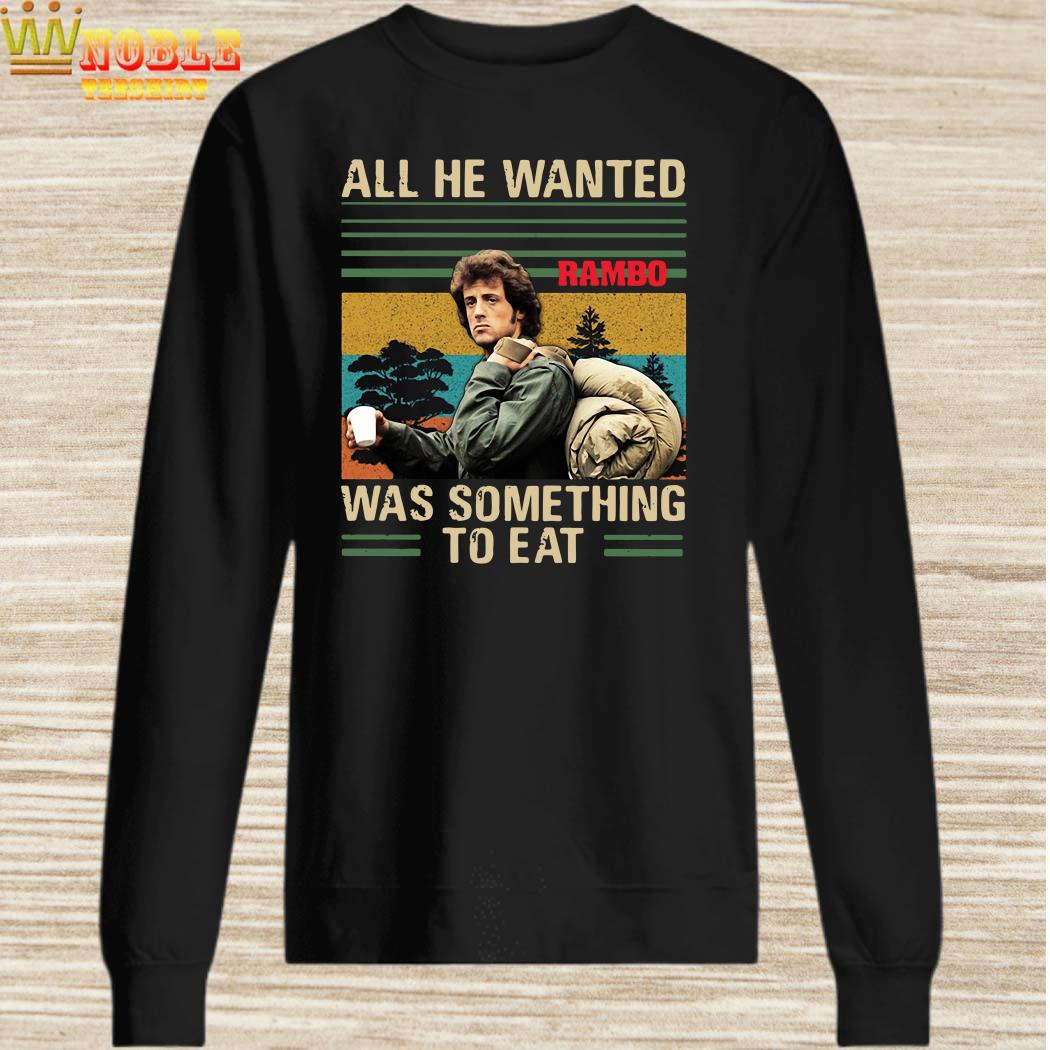 All he wanted Rambo was something to eat vintage sweater
