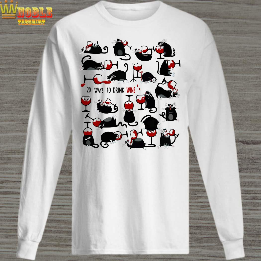 20 Ways to drink wine black cats long sleeved