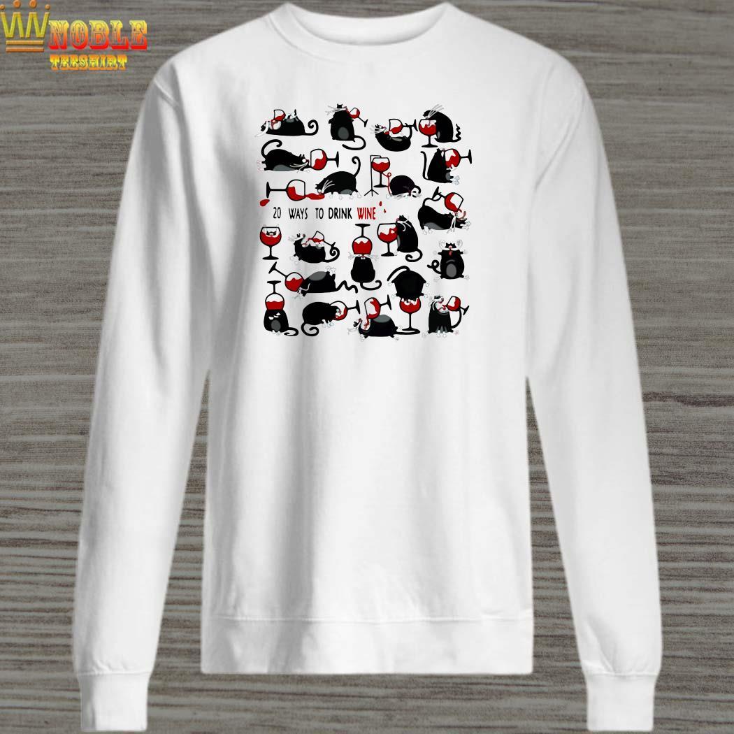 20 Ways to drink wine black cats sweater