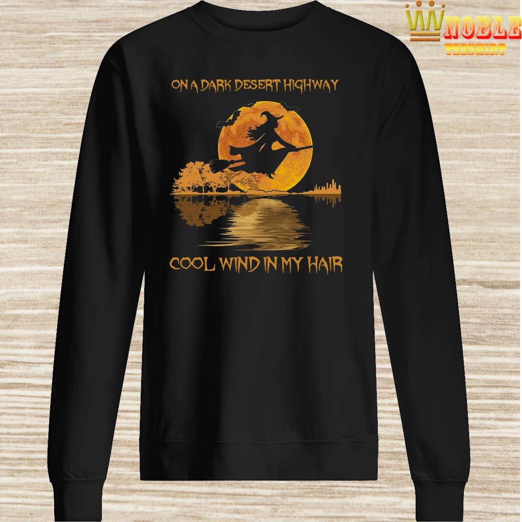 On dark desert highway cool wind in my hair witch jungle guitar halloween sweater