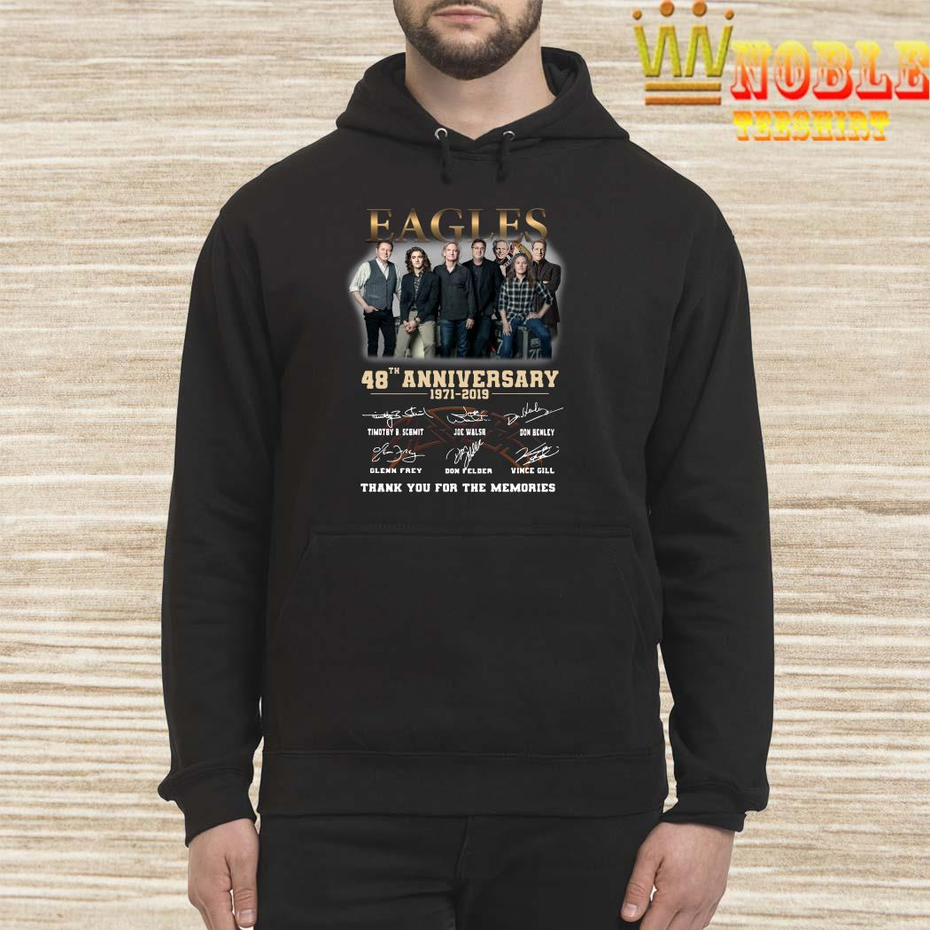 Eagles 48th anniversary 1971 2019 thank you for the memories hoodie