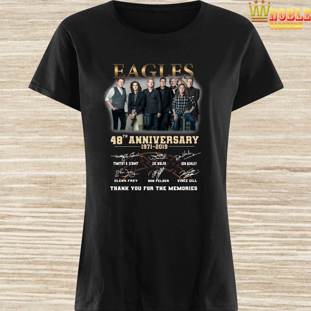 Eagles 48th anniversary 1971 2019 thank you for the memories ladies shirt