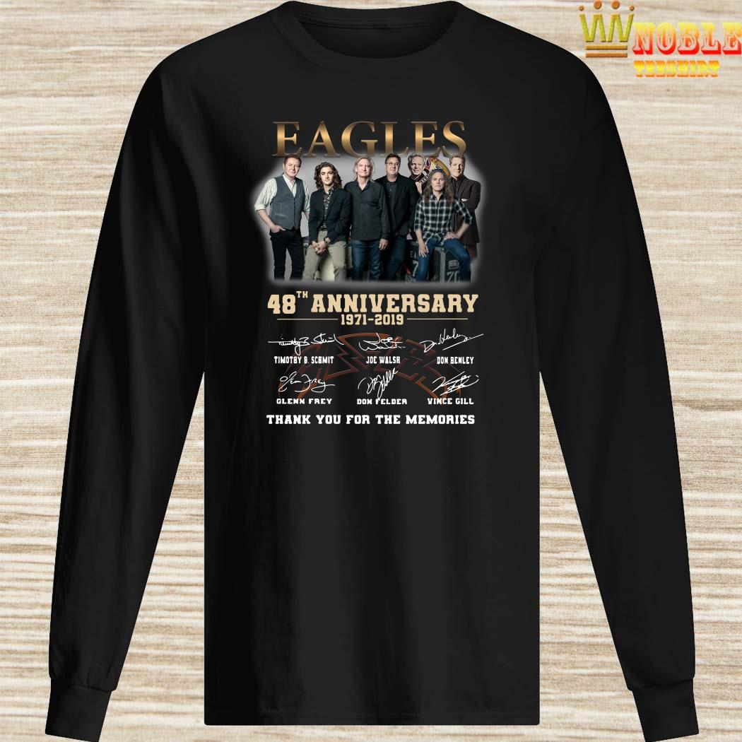 Eagles 48th anniversary 1971 2019 thank you for the memories long sleeved