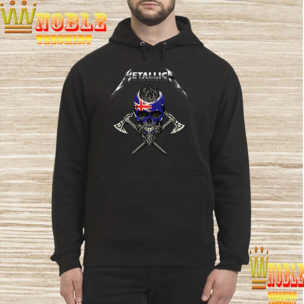 Metallica Viking Skull Australia Flag hoodie