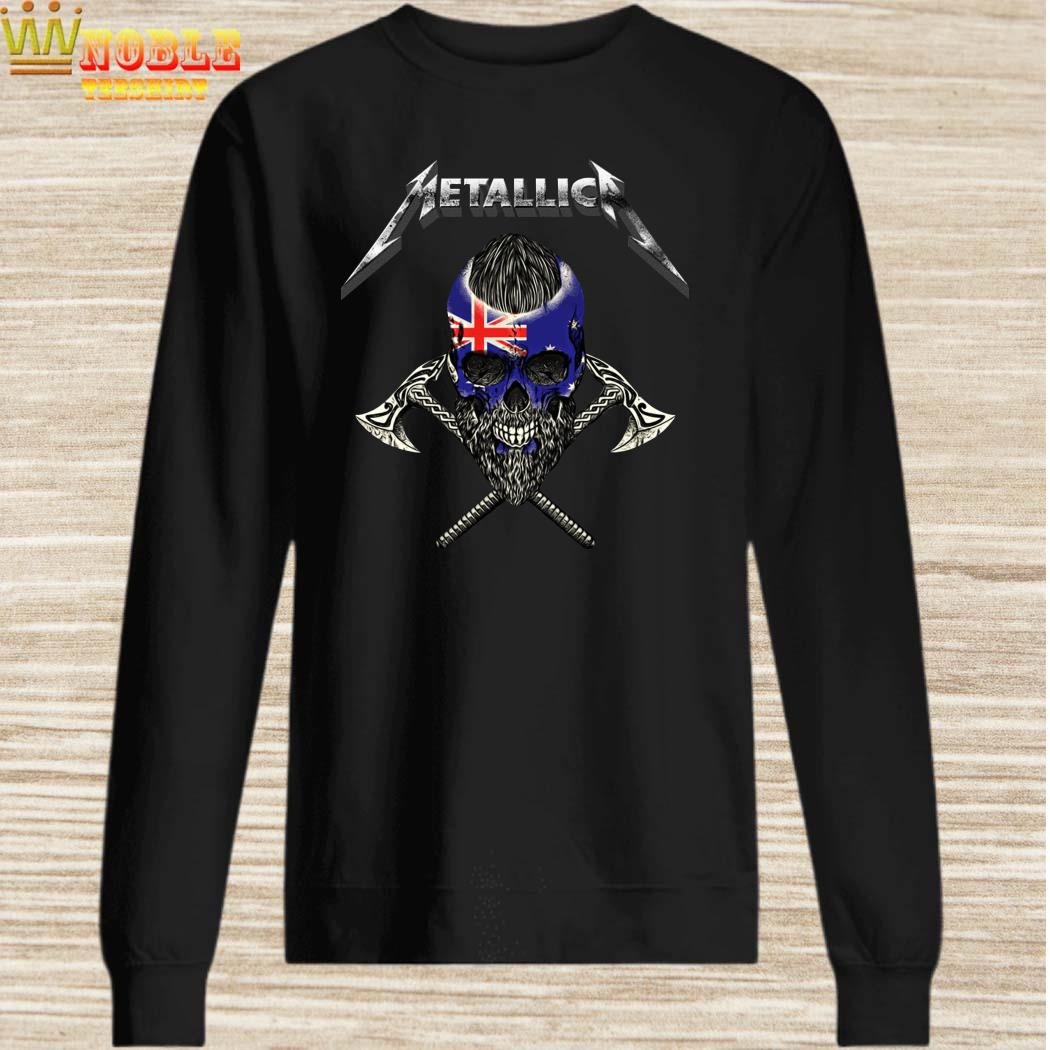 Metallica Viking Skull Australia Flag sweater
