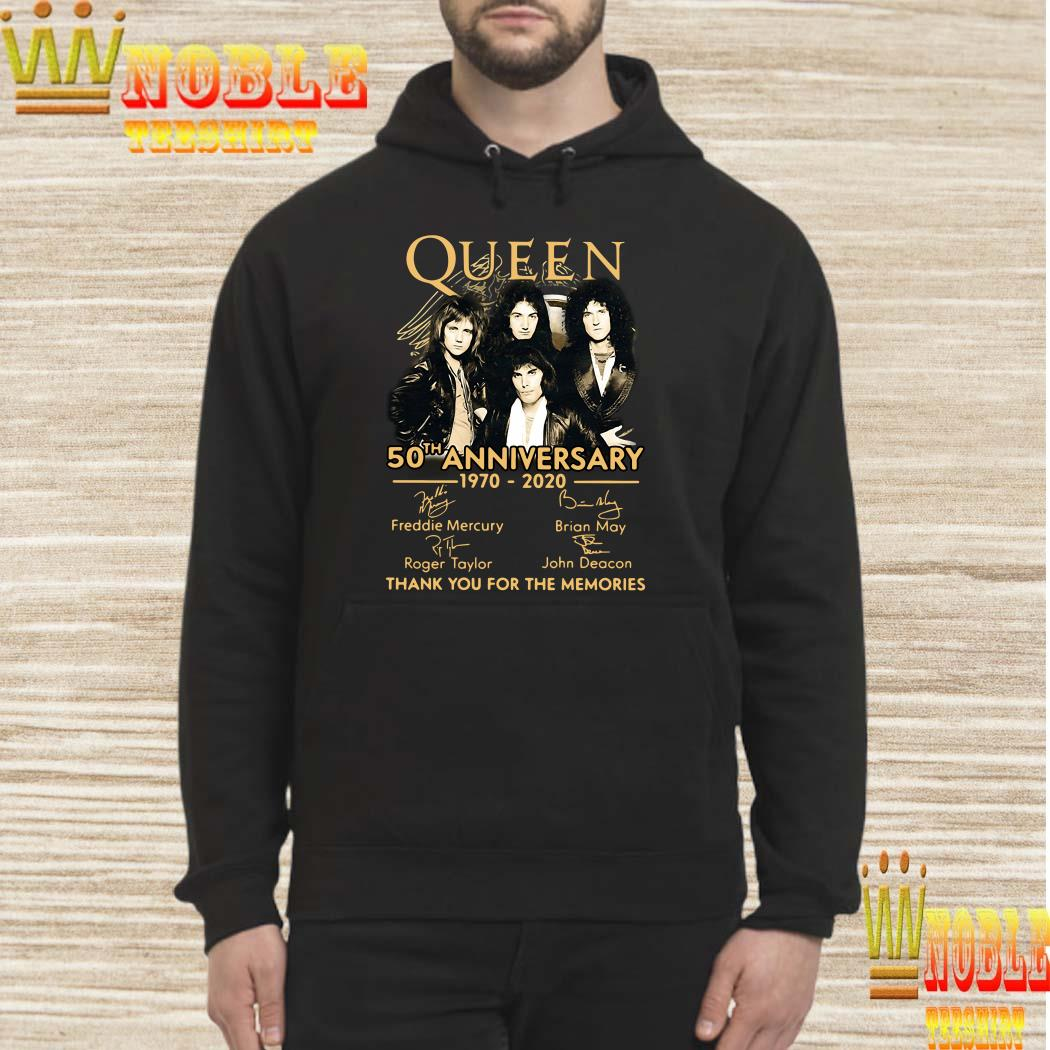 Queen 50th anniversary 1970-2020 thank you for the memories hoodie