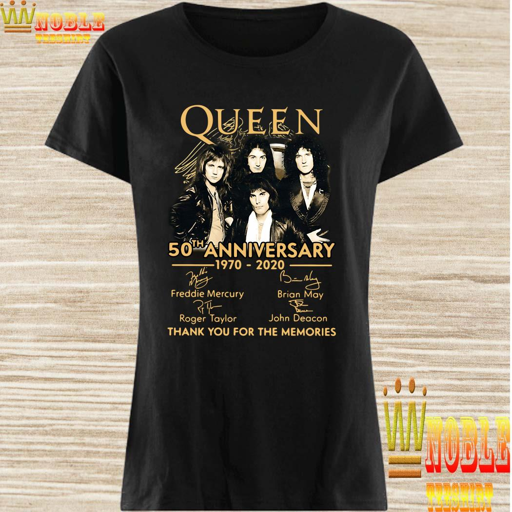 Queen 50th anniversary 1970-2020 thank you for the memories ladies shirt