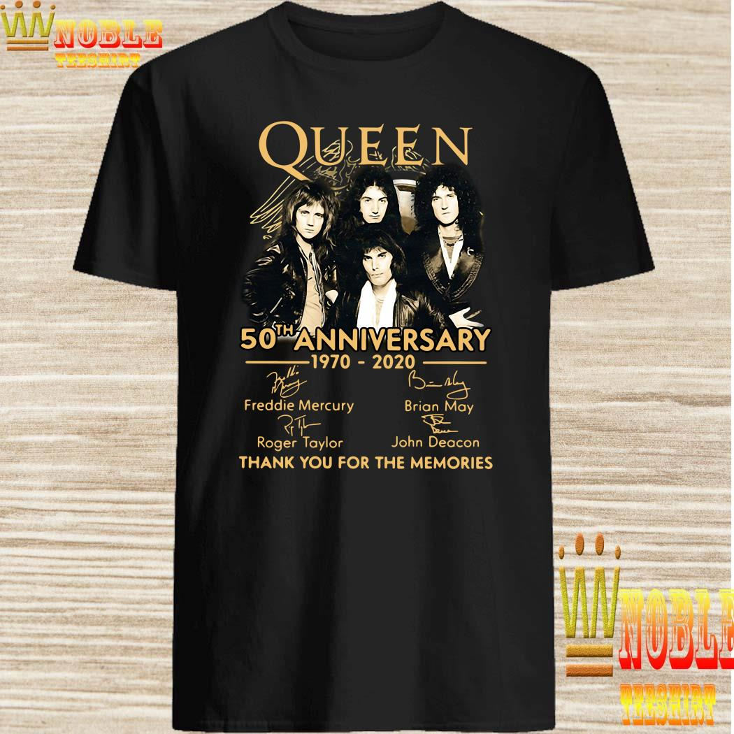 Queen 50th anniversary 1970-2020 thank you for the memories shirt