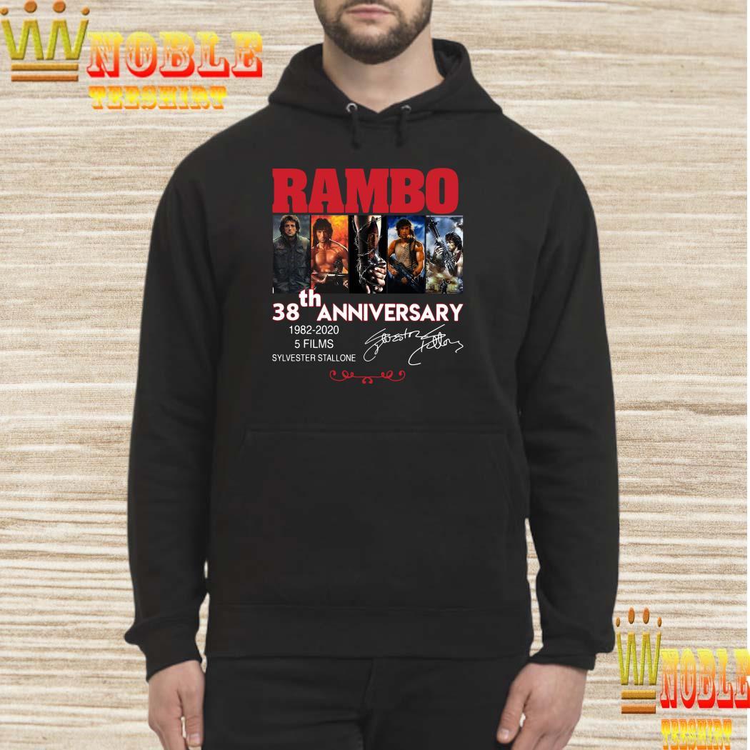 Rambo 38th anniversary 1982-2020 signature hoodie