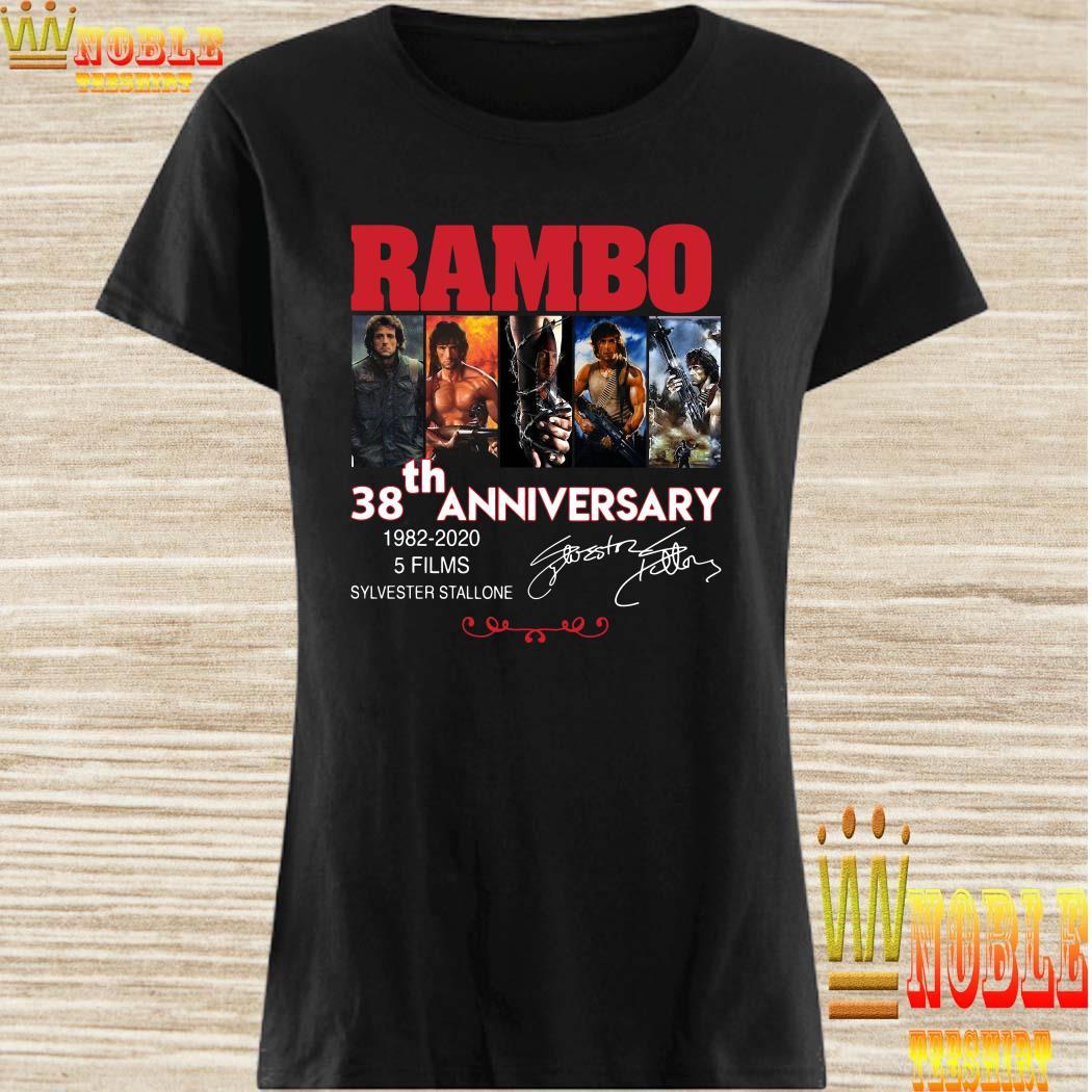 Rambo 38th anniversary 1982-2020 signature ladies shirt