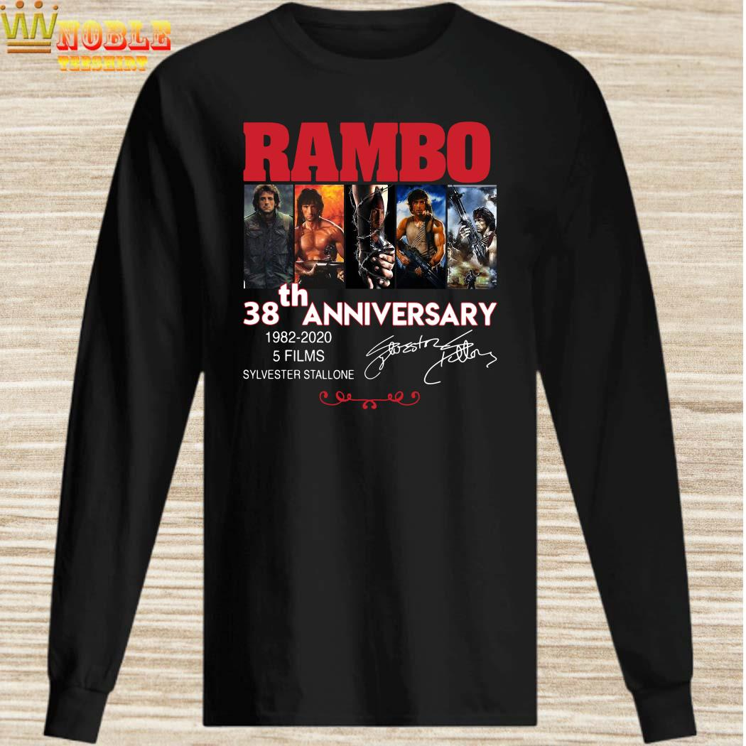 Rambo 38th anniversary 1982-2020 signature long sleeved