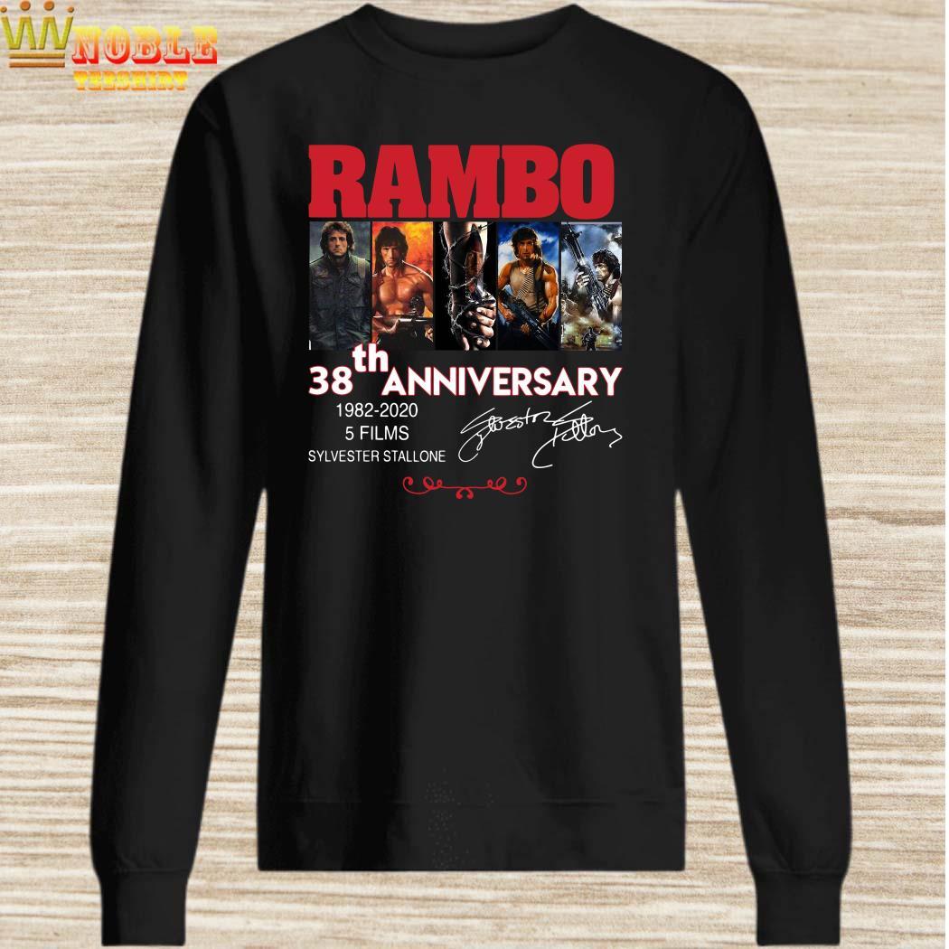 Rambo 38th anniversary 1982-2020 signature sweater