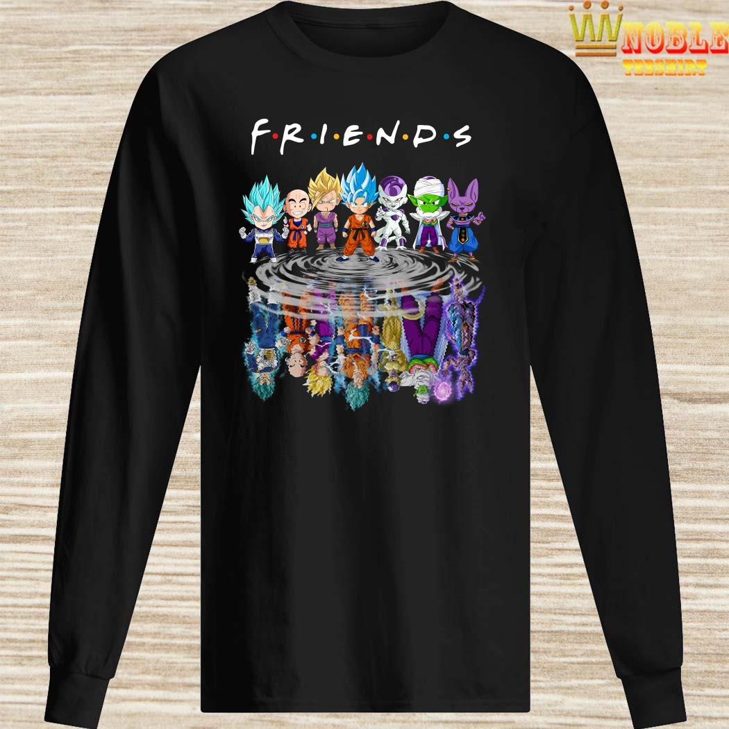 Dragon Ball Z Chibi Water Reflection Mirror Friends Long Sleeved