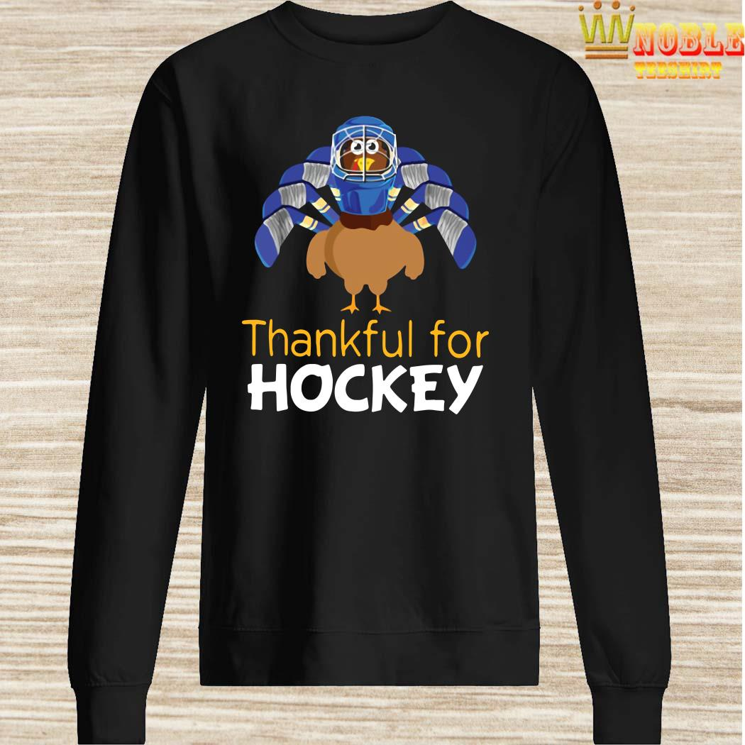 Turkey Chicken Thankful For Hockey Sweater