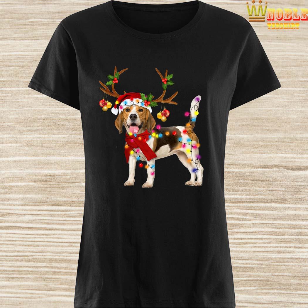 Beagle Gorgeous Reindeer Christmas Ladies Shirt