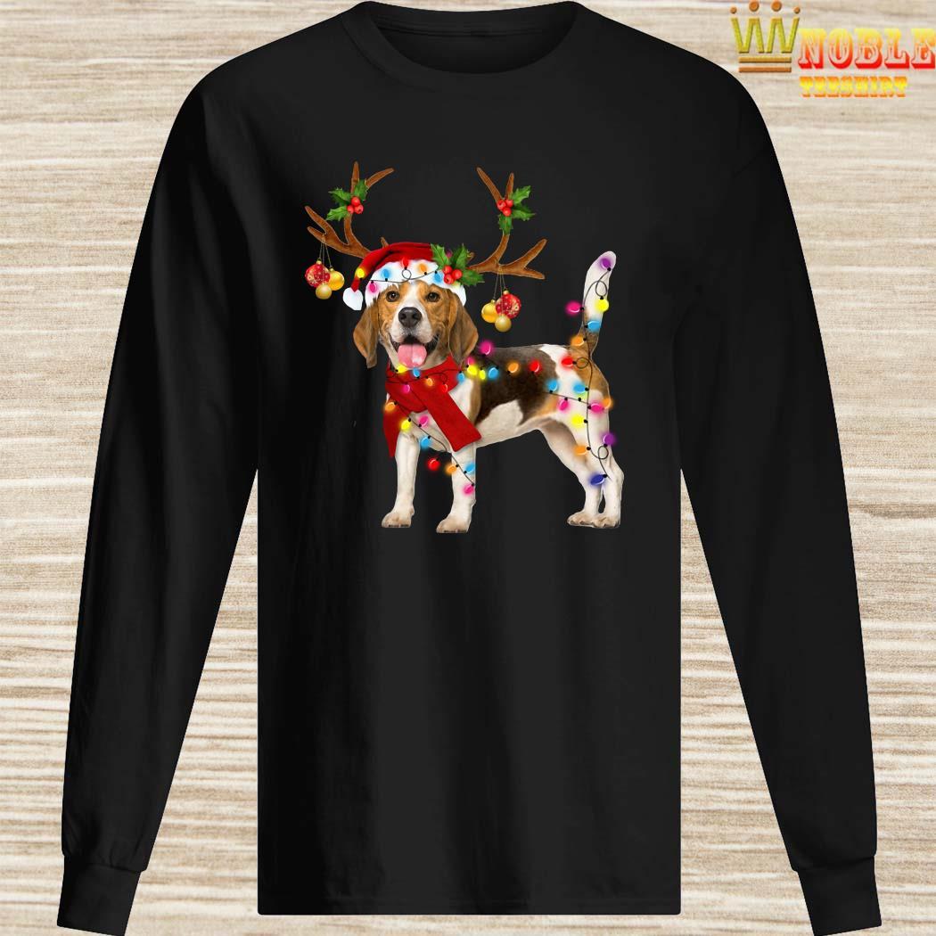 Beagle Gorgeous Reindeer Christmas Long Sleeved