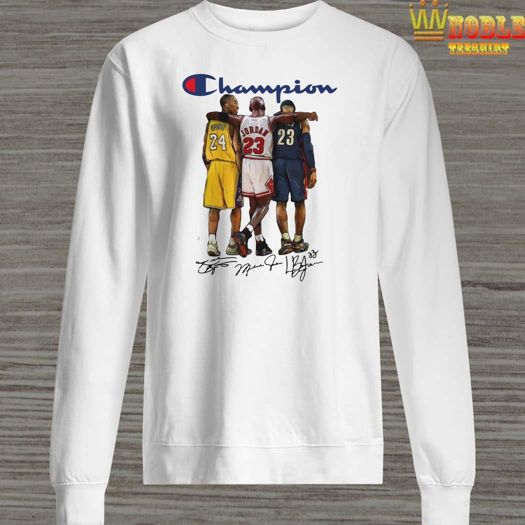 Champion Lebron James Kobe Bryant Michael Jordan Signatures Sweater