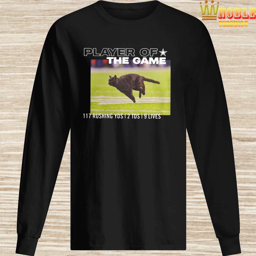 Dallas Cowboys Black Cat Player Of The Game 117 Rushing YSD 2 TDS 9 Lives Long SLeeved