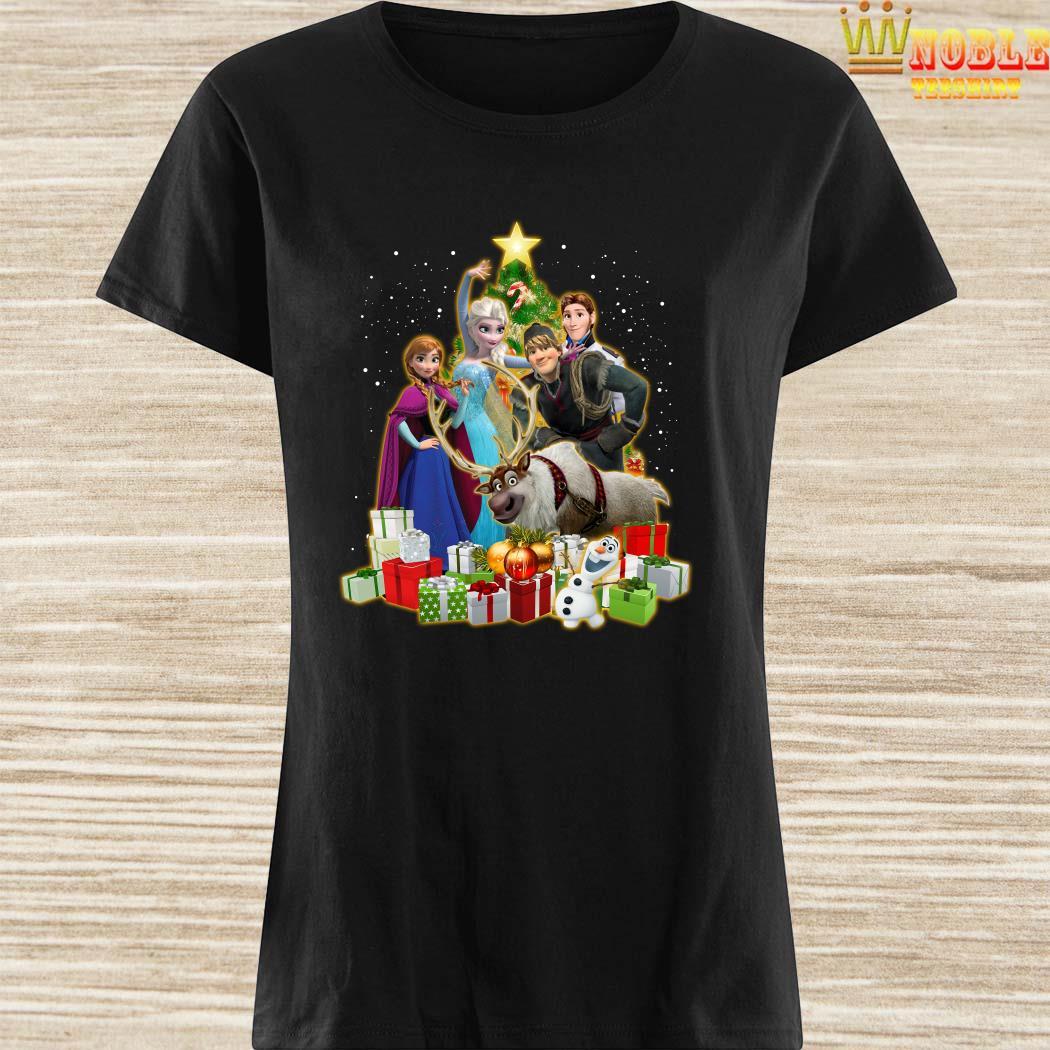 Disney Frozen Characters Christmas Tree Ladies Shirt