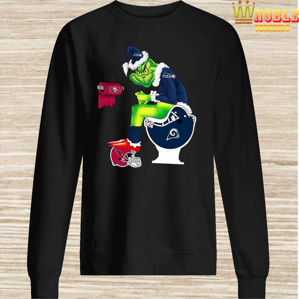 Grinch Seattle Seahawks San Francisco 49ers Los Angeles Rams Arizona Cardinals Toilet Sweater