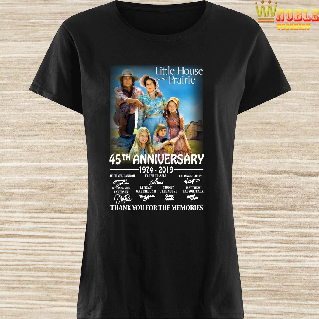 Little House On The Prairie 45th Anniversary 1974-2019 Thank You For The Memories Ladies Shirt