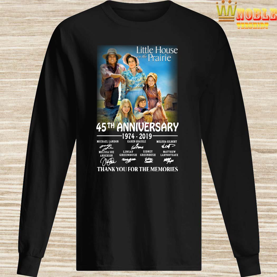 Little House On The Prairie 45th Anniversary 1974-2019 Thank You For The Memories Long Sleeved