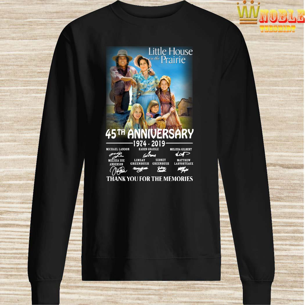 Little House On The Prairie 45th Anniversary 1974-2019 Thank You For The Memories Sweater
