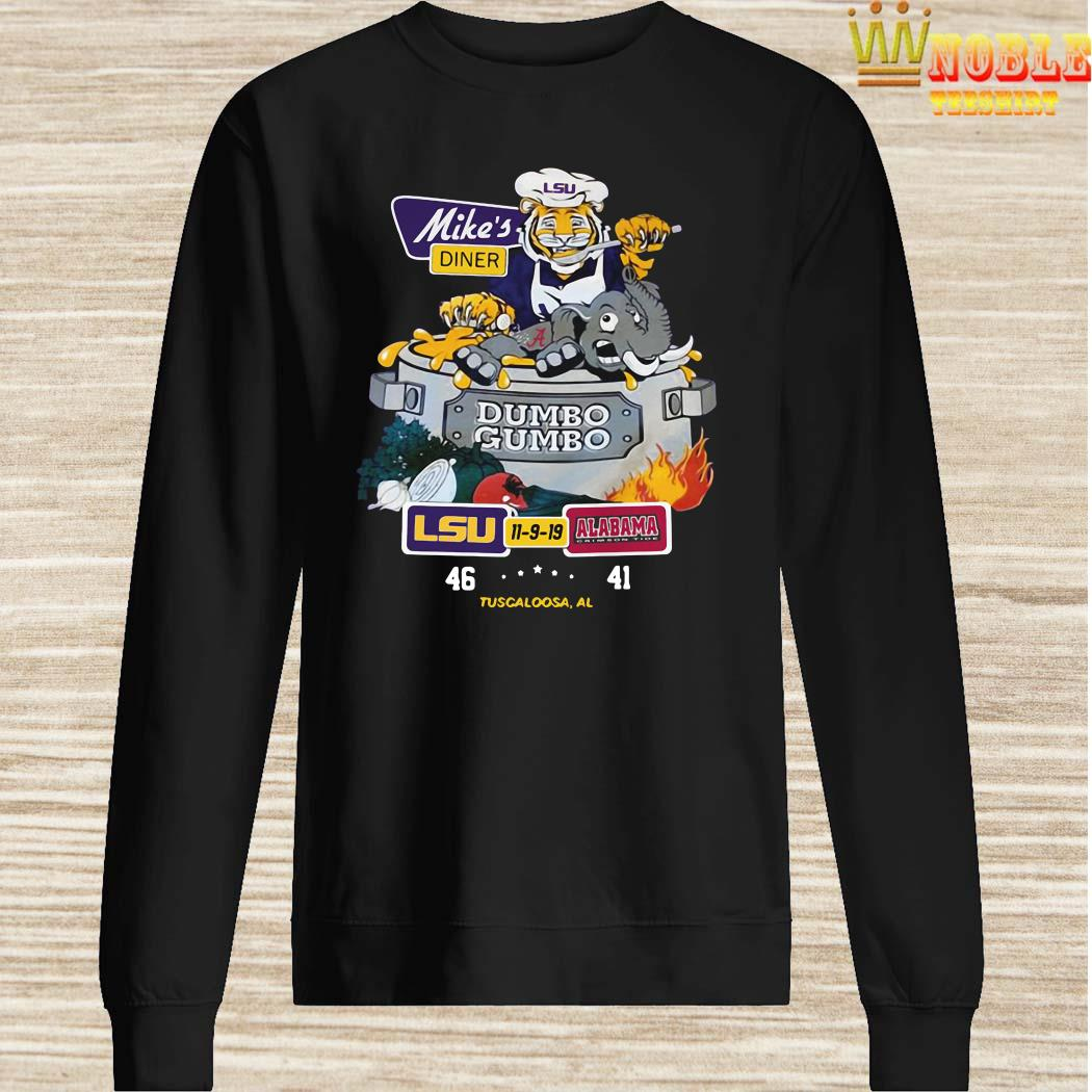 Mike's Diner Dumbo Gumbo LSU Alabama Sweater