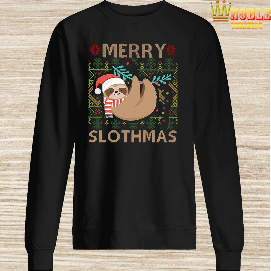 Santa Sloth Merry Slothmas Christmas SweaterSanta Sloth Merry Slothmas Christmas Sweater