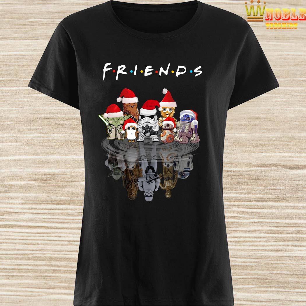 Star Wars Chibi Characters Water Reflection Mirror Friends Christmas Ladies Shirt
