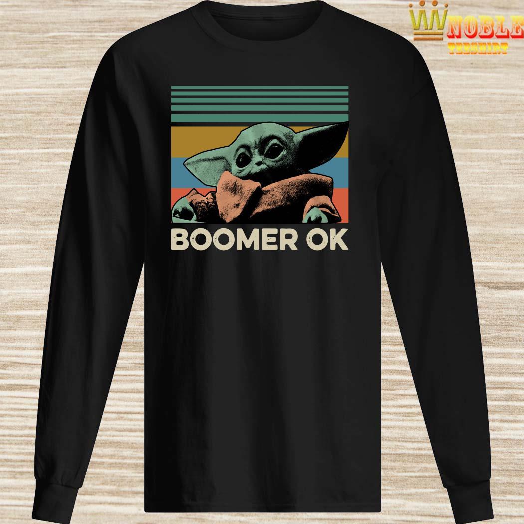 Baby Yoda Boomer Ok Vintage Long Sleeved
