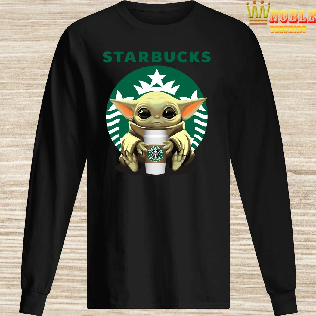 Baby Yoda Hug Starbucks Long SleevedBaby Yoda Hug Starbucks Long Sleeved