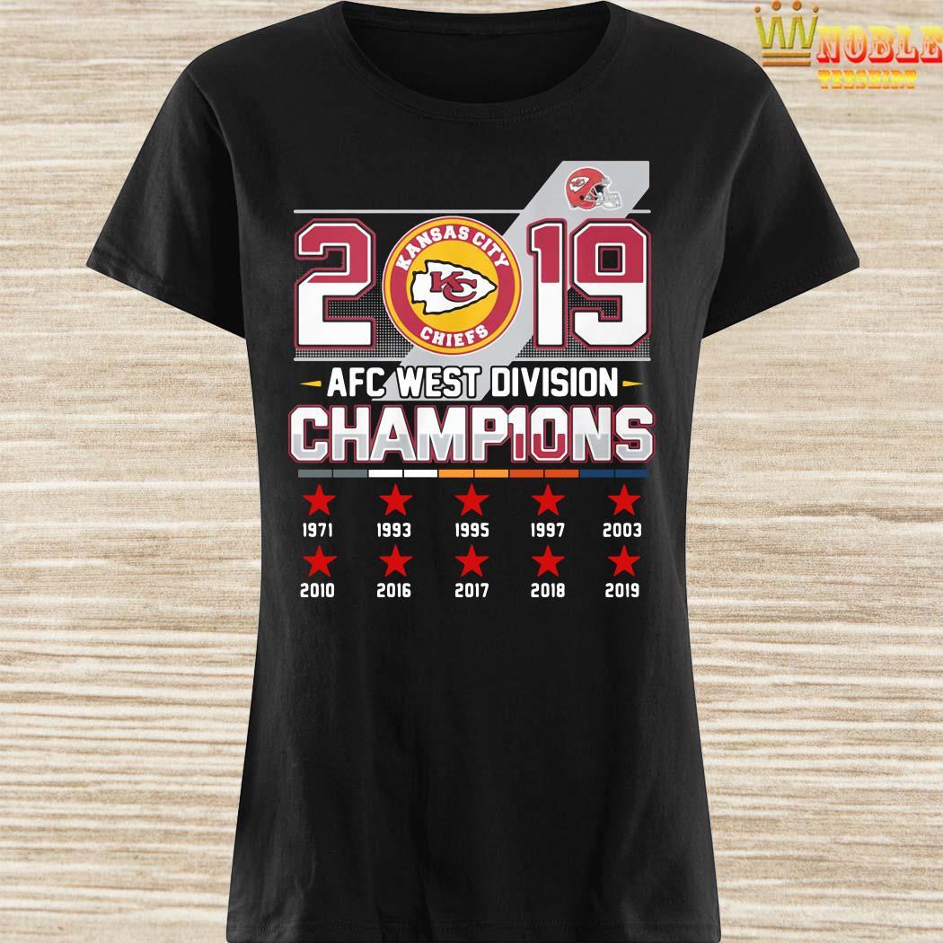 Kansas City Chiefs 2019 AFC West Division Champions Ladies Shirt