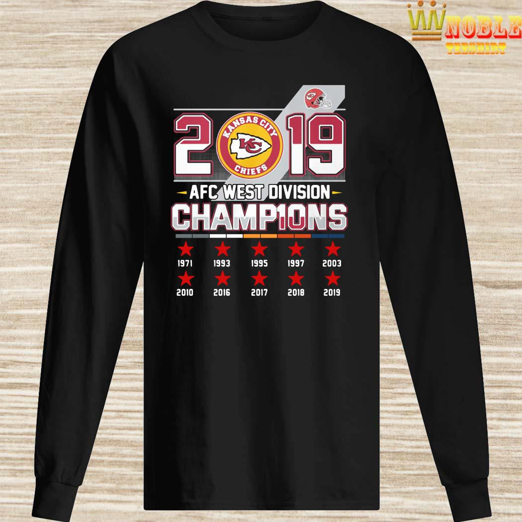 Kansas City Chiefs 2019 AFC West Division Champions Long Sleeved