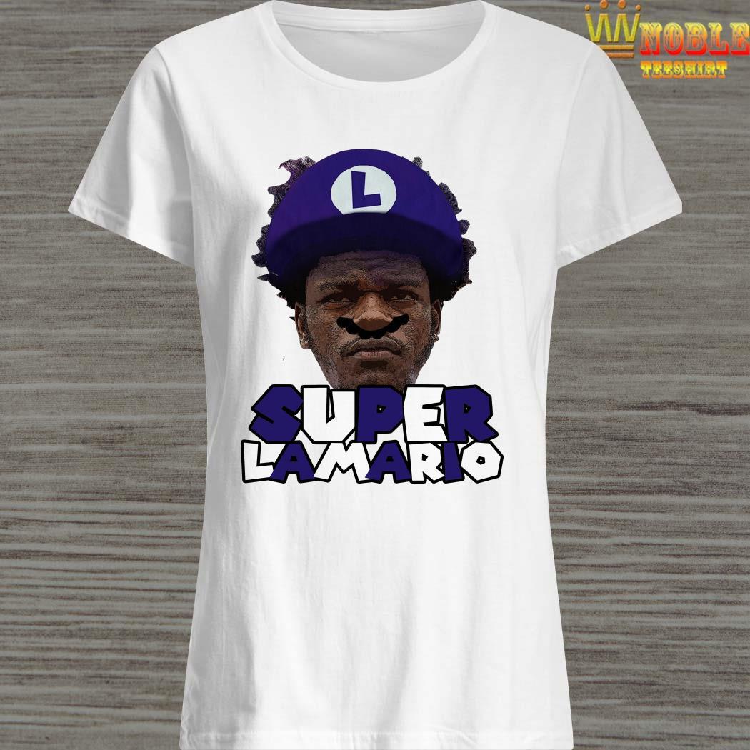 Lamar Jackson Super Lamario Ladies ShirtLamar Jackson Super Lamario Ladies Shirt