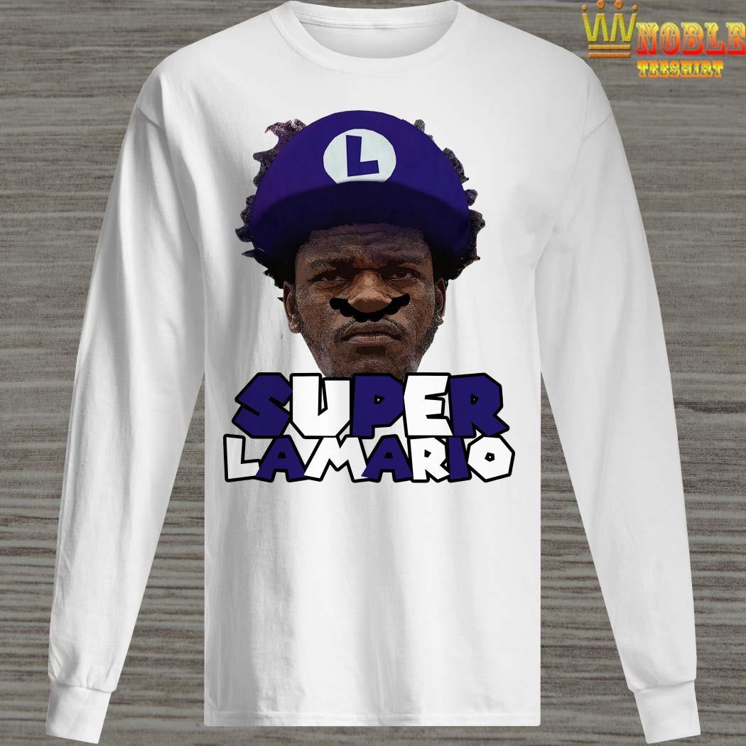Lamar Jackson Super Lamario Long Sleeved