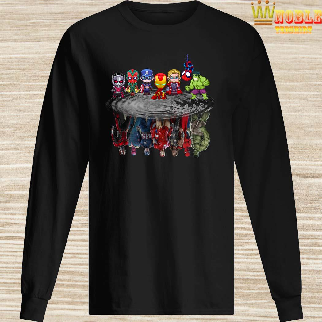 Marvel Avengers Chibi Characters Water Reflection Mirror Long Sleeved