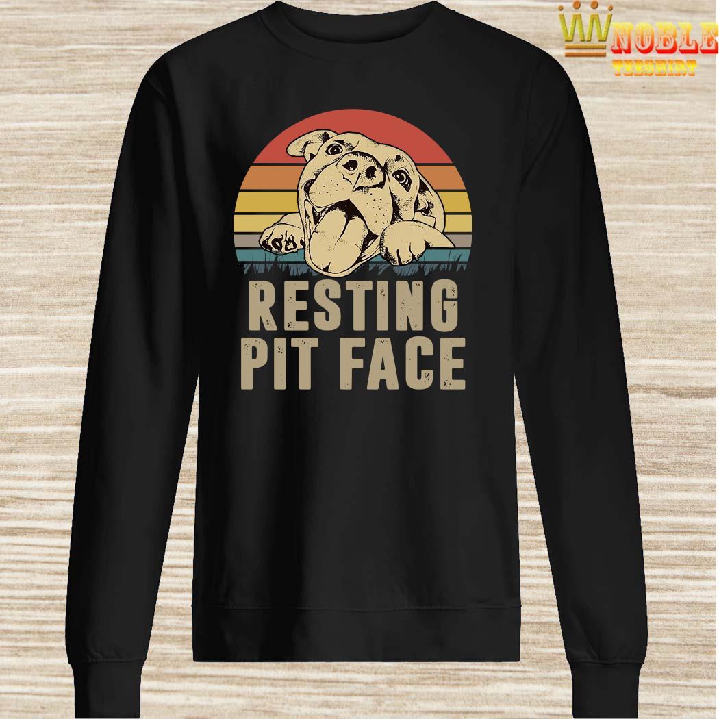 Pitbull Resting Pit Face Vintage SweaterPitbull Resting Pit Face Vintage Sweater