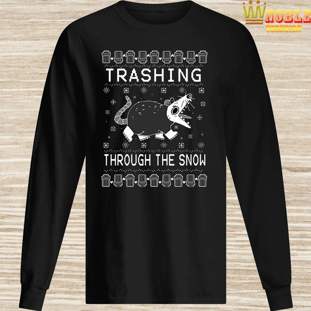 Trashing Through The Snow Ugly Christmas Long Sleeved