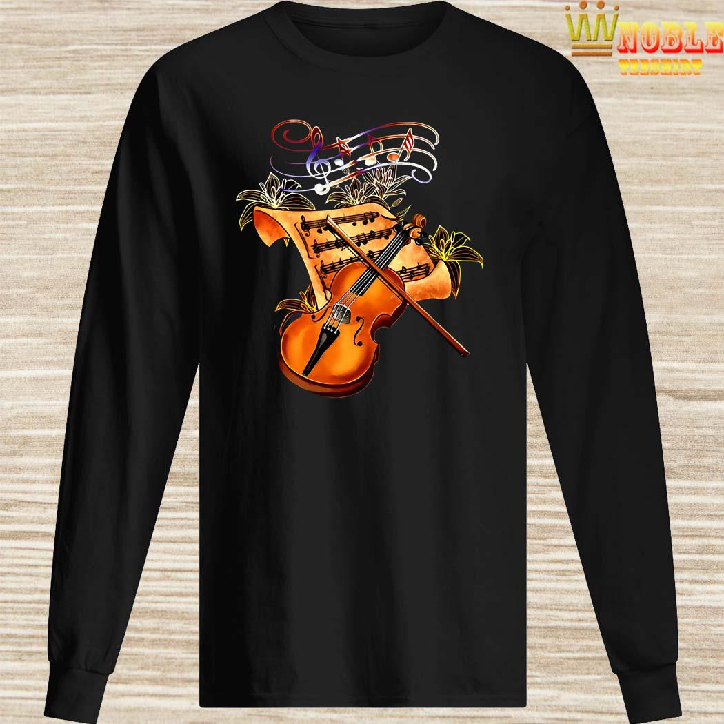 Violin Musically Gold Flower Long Sleeved