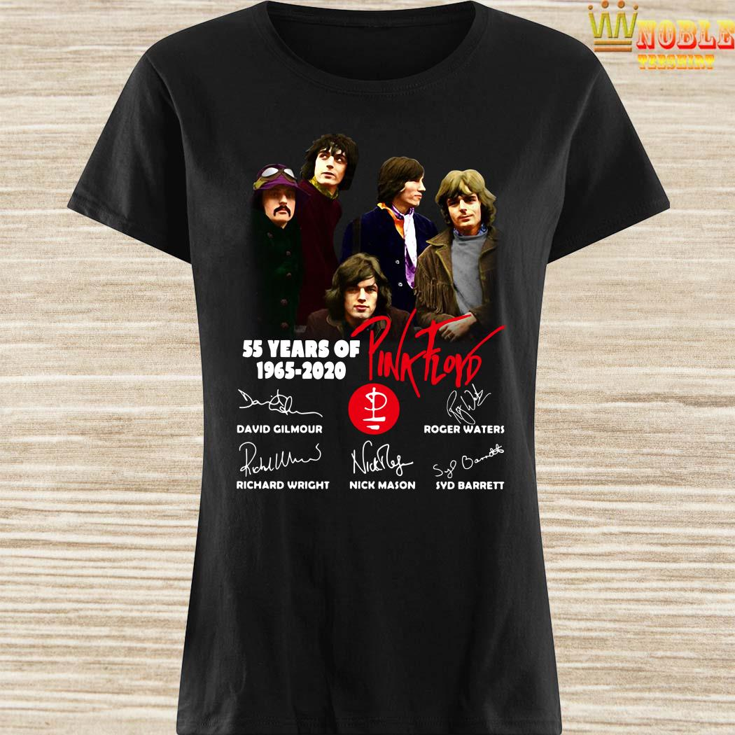 55 Years Of 1965 2020 Pink Floyd Signature Ladies Shirt