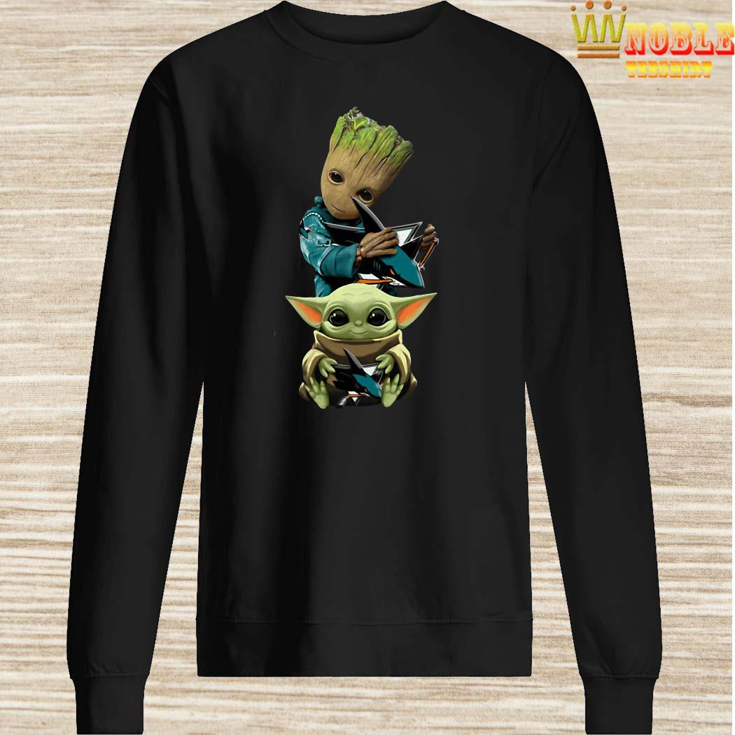 Baby Groot And Baby Yoda Hug Philadelphia Flyers Sweater