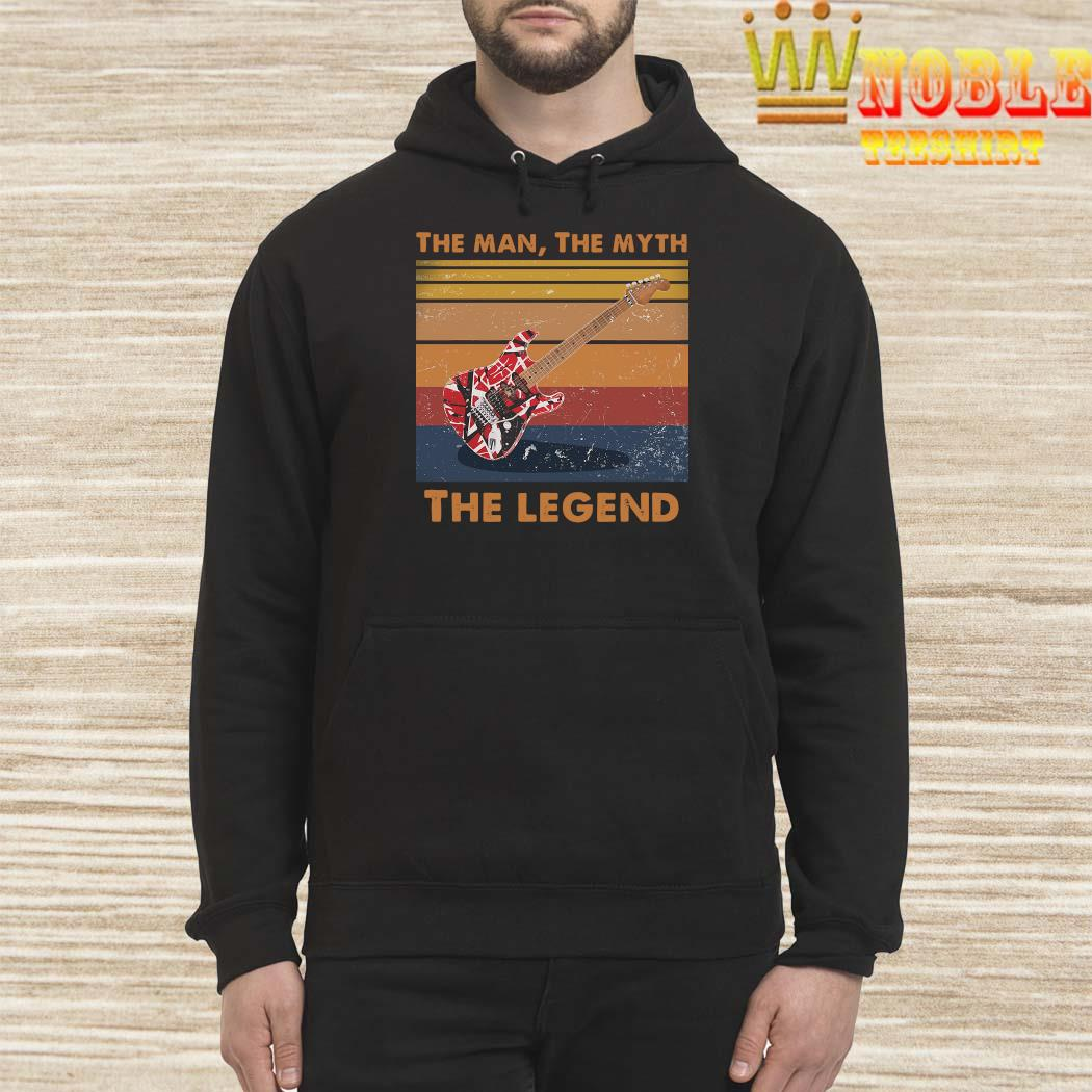Eddie Van Halen Guitar The Man The Myth The Legend Vintage Shirt Hoodie