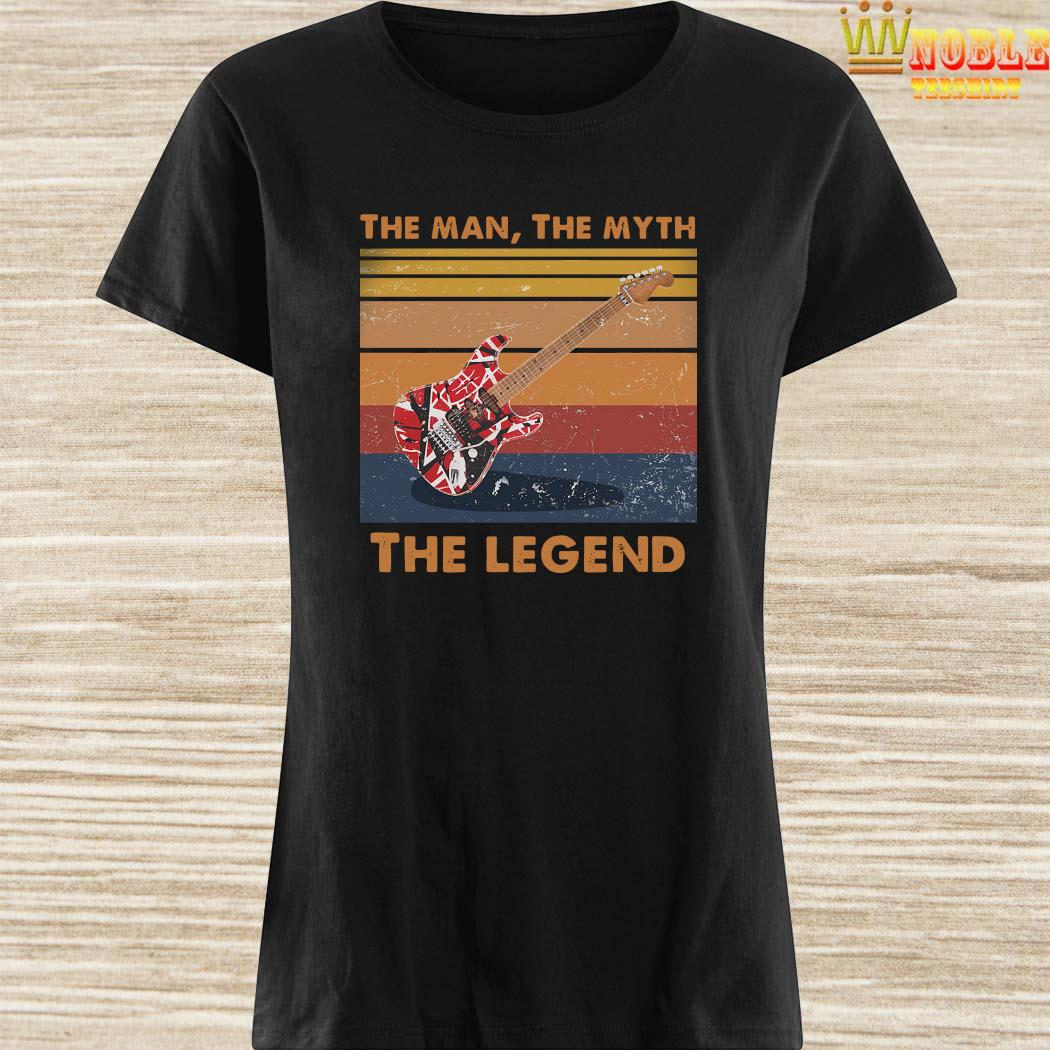 Eddie Van Halen Guitar The Man The Myth The Legend Vintage Shirt Ladies Shirt