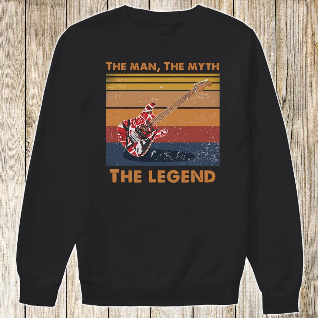 Eddie Van Halen Guitar The Man The Myth The Legend Vintage Shirt Sweatshirt