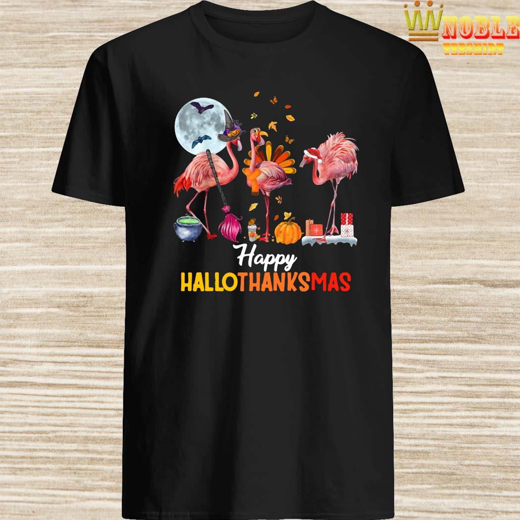 Happy Hallothanksmas Flamingo Shirt
