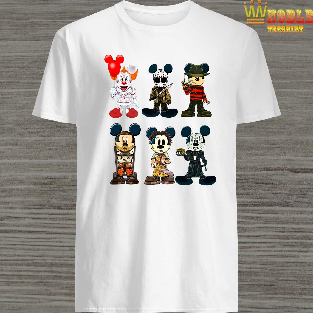 Mickey Cosplay Horror Characters Halloween Shirt