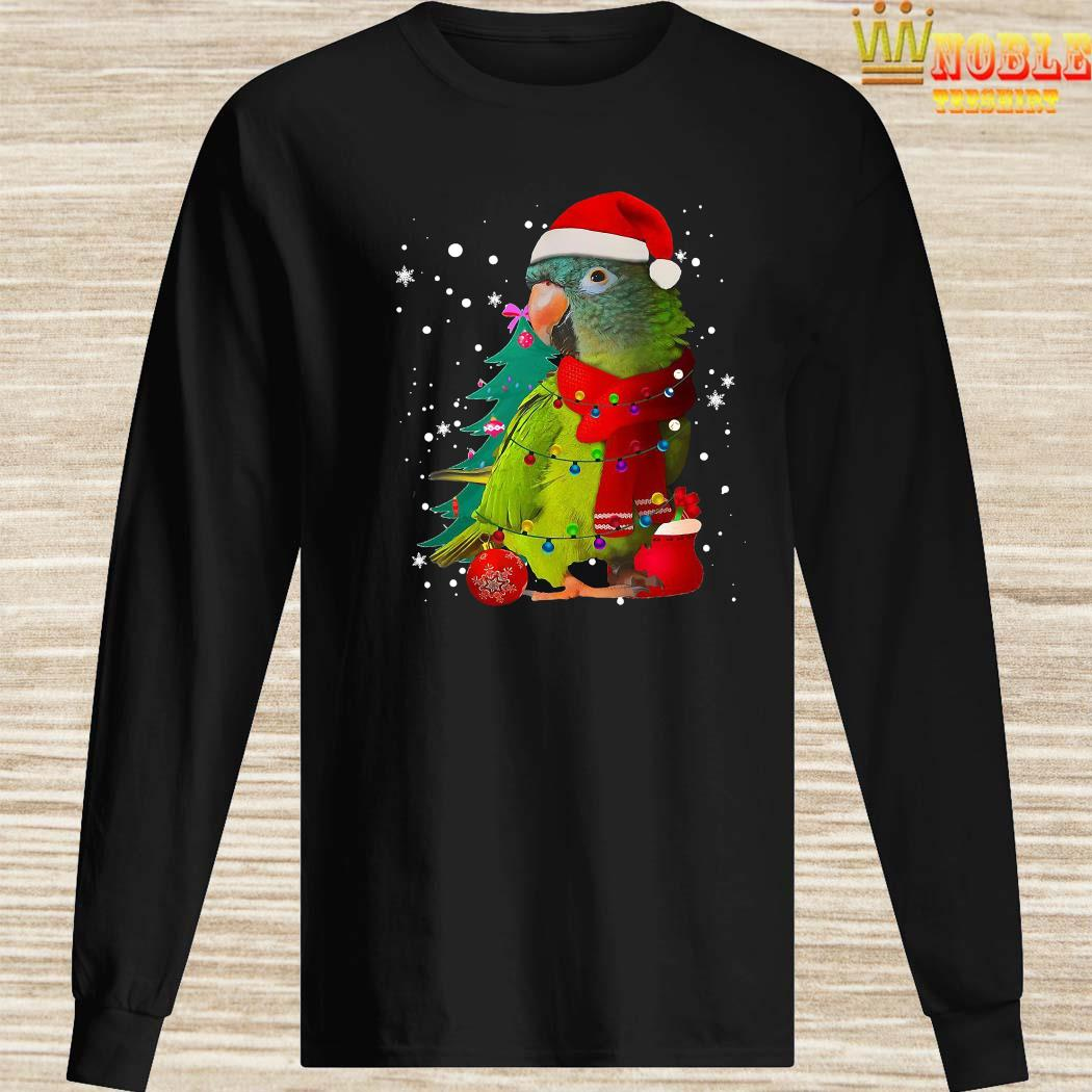 Santa Parrot With Light Merry Christmas Shirt Long Sleeved