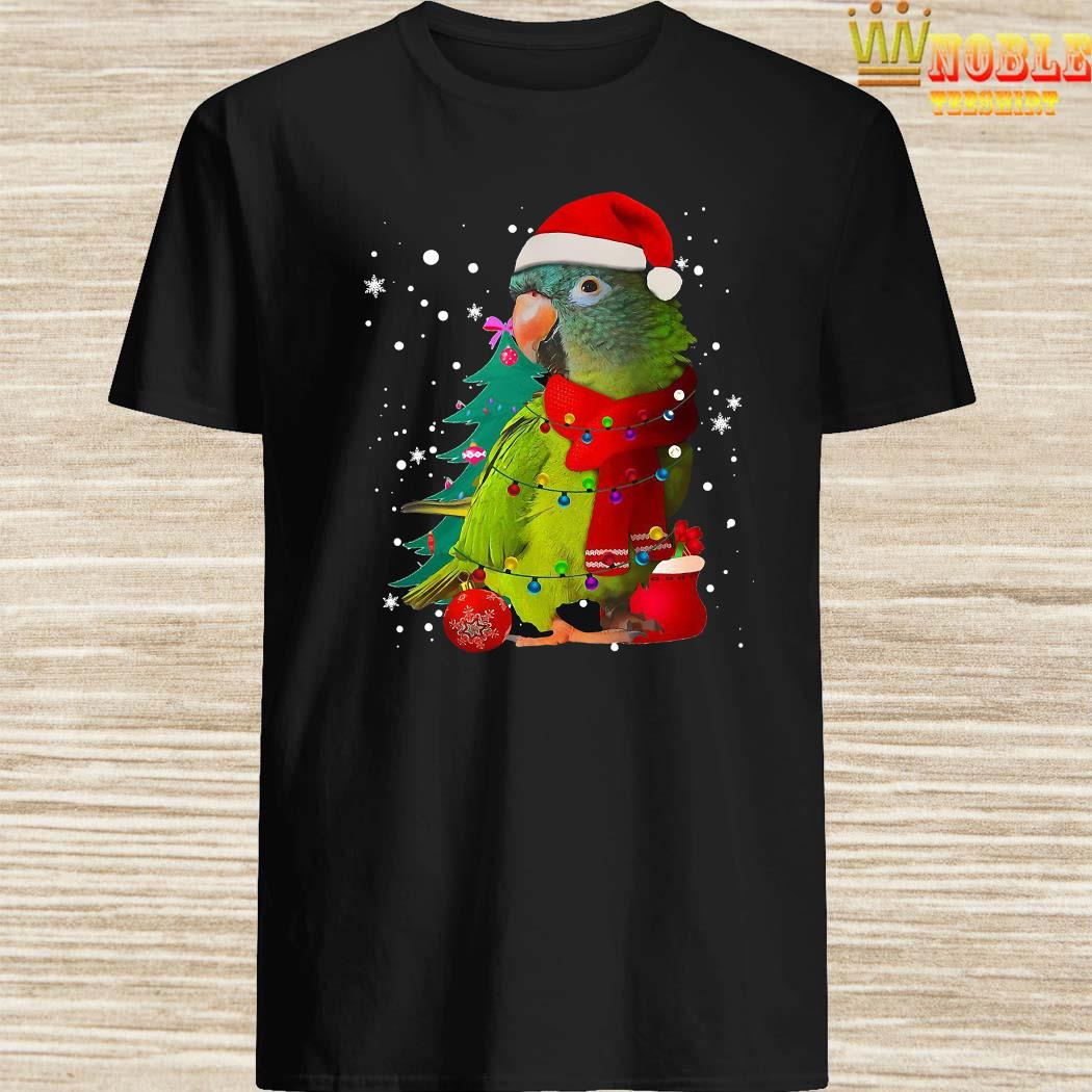 Santa Parrot With Light Merry Christmas Shirt