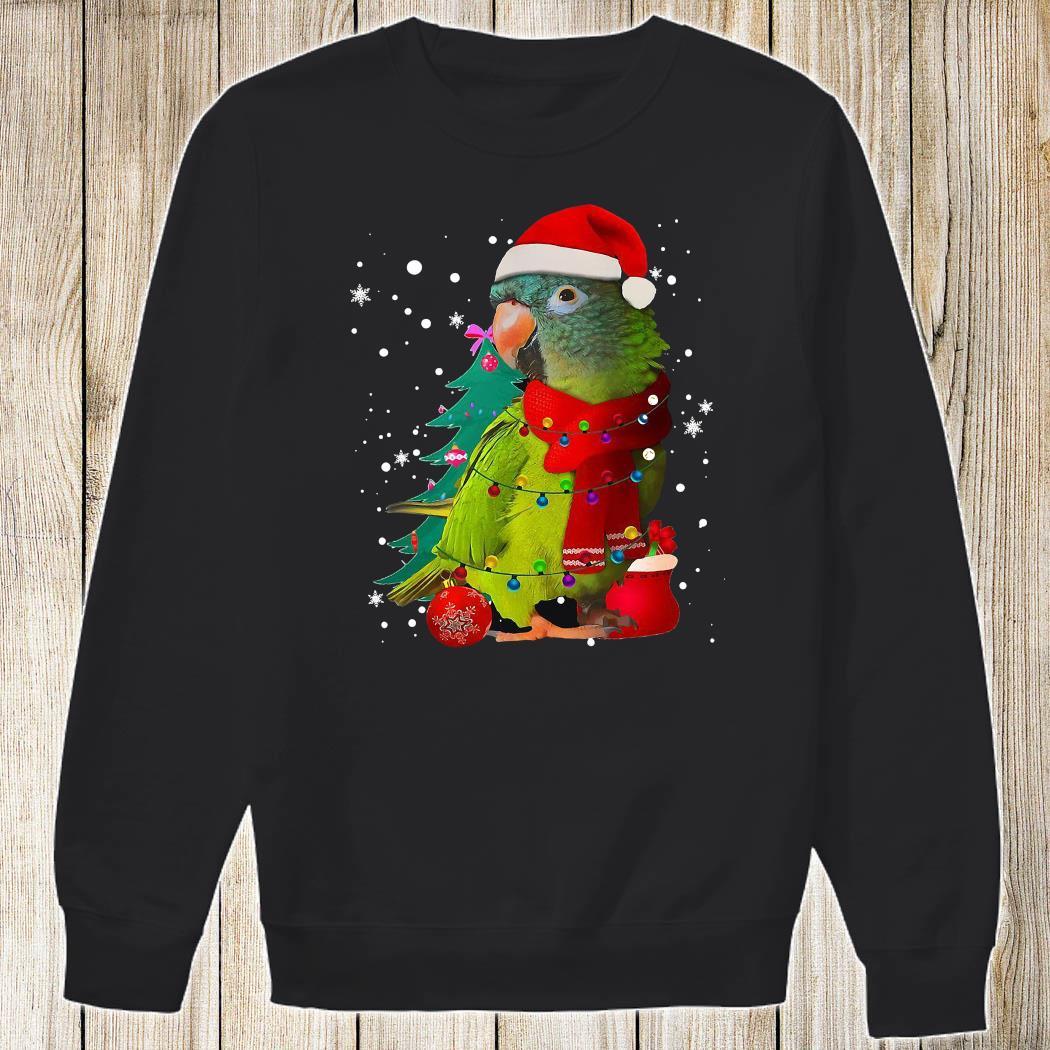 Santa Parrot With Light Merry Christmas Shirt Sweatshirt